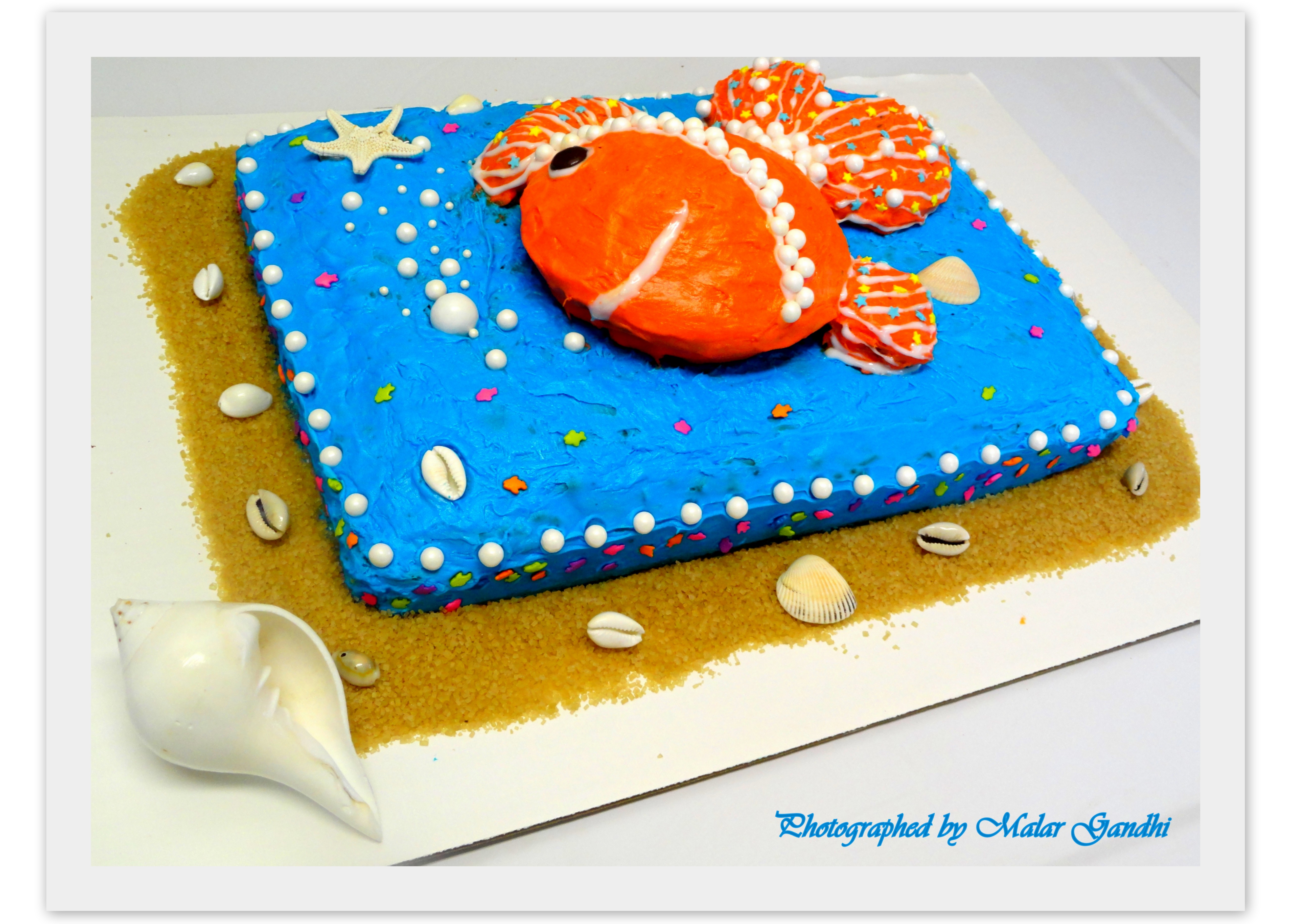 Fish shaped cake o fishially three kitchen tantra for Fish shaped cake
